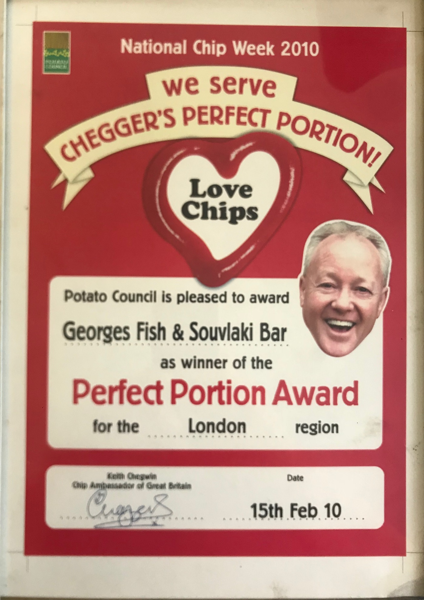 georges-fishbar-award-cheggers-2010