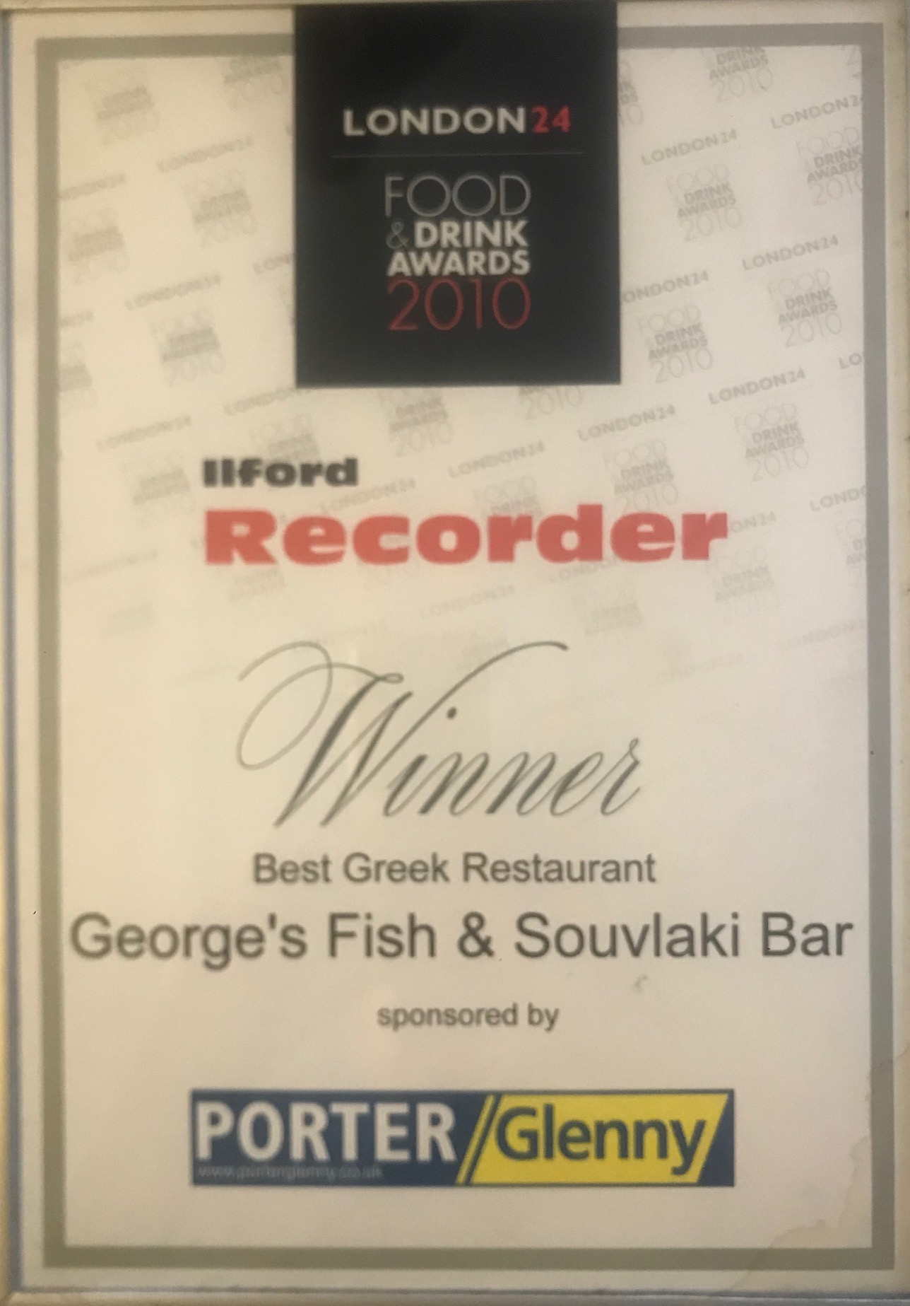 georges-fishbar-award-ilford-recorder-2010